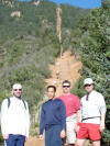 Chris, Johan, John, and myself before we challenge the climb.